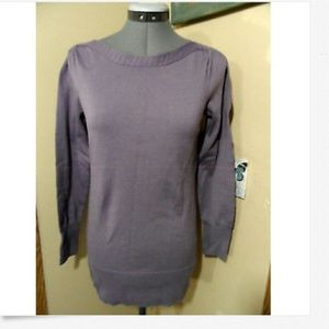 THE LIMITED Sweater Top PXS Lavender Boat neck LS